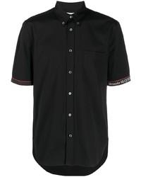Camisa de manga corta negra de Alexander McQueen
