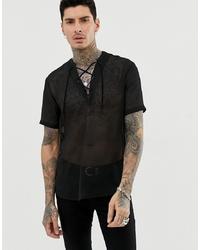 Camisa de manga corta negra de ASOS DESIGN