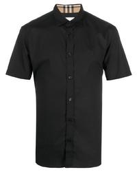 Camisa de manga corta negra de Burberry