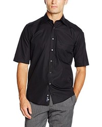 Camisa de manga corta negra de Casamoda