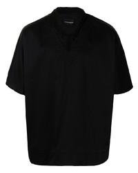 Camisa de manga corta negra de Emporio Armani