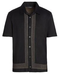 Camisa de manga corta negra de Ermenegildo Zegna