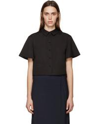 Camisa de manga corta negra de Proenza Schouler