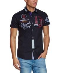 Camisa de manga corta negra de Redbridge