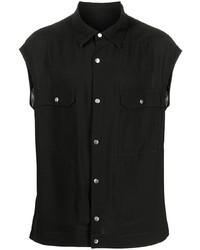Camisa de manga corta negra de Rick Owens