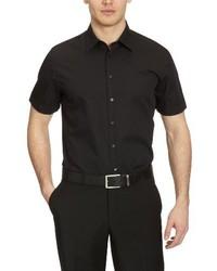 Camisa de manga corta negra de Seidensticker