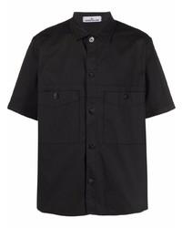 Camisa de manga corta negra de Stone Island