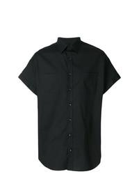 Camisa de manga corta negra de Versace Collection