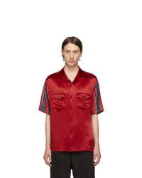 Camisa de manga corta roja de Gucci