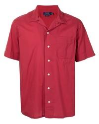 Camisa de manga corta roja de Polo Ralph Lauren