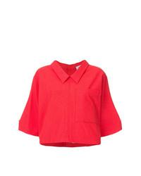 Camisa de manga corta roja de Thom Browne