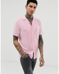 Camisa de manga corta rosada de ASOS DESIGN