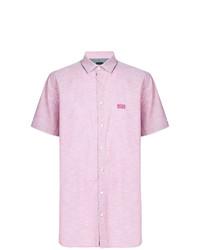 Camisa de manga corta rosada de BOSS HUGO BOSS