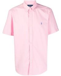 Camisa de manga corta rosada de Polo Ralph Lauren