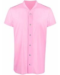 Camisa de manga corta rosada de Rick Owens