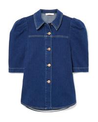 Camisa de manga corta vaquera azul marino de See by Chloe