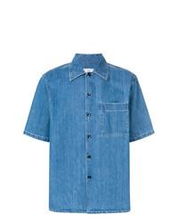 Camisa de Manga Corta Vaquera Azul de AMI Alexandre Mattiussi