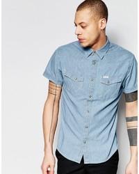 Camisa de manga corta vaquera celeste de Wrangler