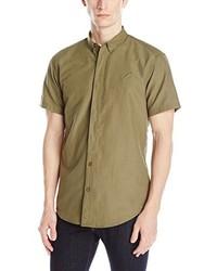 Camisa de manga corta verde oliva