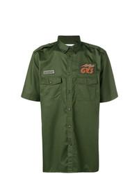 Camisa de manga corta verde oliva de Givenchy