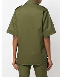 Camisa de Manga Corta Verde Oliva de MARQUES ALMEIDA
