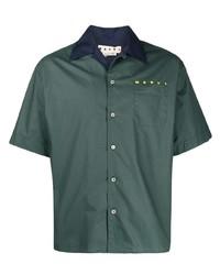 Camisa de manga corta verde oscuro de Marni