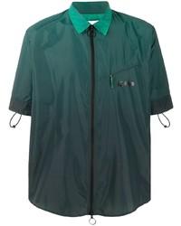 Camisa de manga corta verde oscuro de Off-White