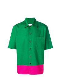 Camisa de manga corta verde de AMI Alexandre Mattiussi