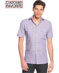 Camisa de manga corta violeta claro