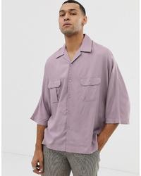Camisa de manga corta violeta claro de ASOS DESIGN