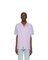 Camisa de manga corta violeta claro de DOUBLE RAINBOUU