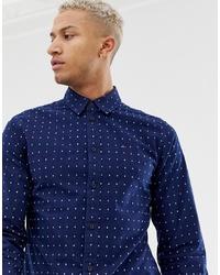 Camisa de manga larga a cuadros azul marino de Tommy Jeans