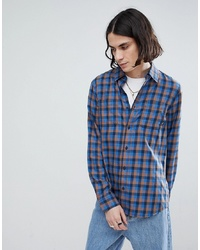 Camisa de manga larga a cuadros azul de Vans