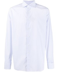 Camisa de manga larga a cuadros celeste de Canali