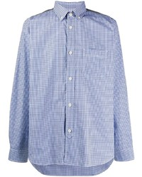 Camisa de manga larga a cuadros celeste de Junya Watanabe MAN