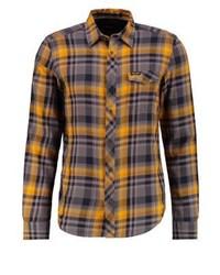 Camisa de manga larga a cuadros dorada de Wrangler