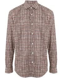 Camisa de manga larga a cuadros en multicolor de Ermenegildo Zegna