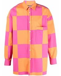Camisa de manga larga a cuadros en multicolor de Jacquemus