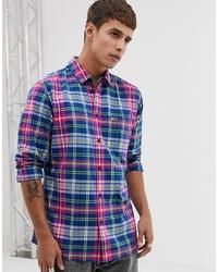 Camisa de manga larga a cuadros en multicolor de Tommy Jeans