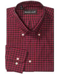 Camisa de manga larga a cuadros en rojo y negro