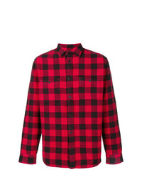 Camisa de manga larga a cuadros en rojo y negro de Kent & Curwen