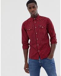 Camisa de manga larga a cuadros en rojo y negro de Wrangler