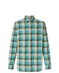 Camisa de manga larga a cuadros en verde azulado de Bellerose