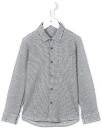 Camisa de manga larga a cuadros gris de Il Gufo