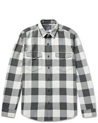 Camisa de manga larga a cuadros gris de J.Crew