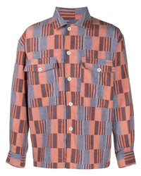 Camisa de manga larga a cuadros naranja de Henrik Vibskov