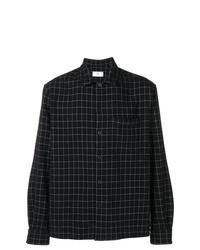 Camisa de manga larga a cuadros negra de AMI Alexandre Mattiussi