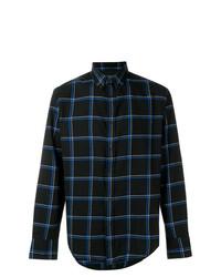 Camisa de manga larga a cuadros negra de rag & bone