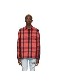 Camisa de manga larga a cuadros roja de Marcelo Burlon County of Milan
