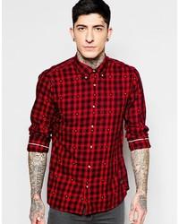 4e9e78fa70029 Comprar una camisa de manga larga a cuadros roja de Asos  elegir ...